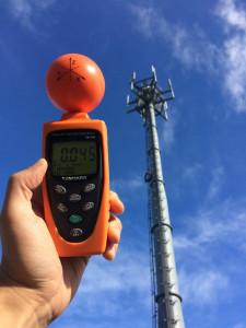 携帯電話基地局の電磁波測定
