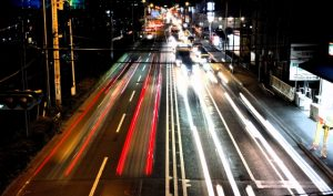 主要道路沿いの電磁波が強い