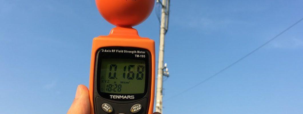 PHSの基地局アンテナの電磁波測定